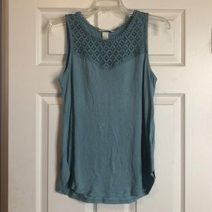 Blue Lace Detail Top
